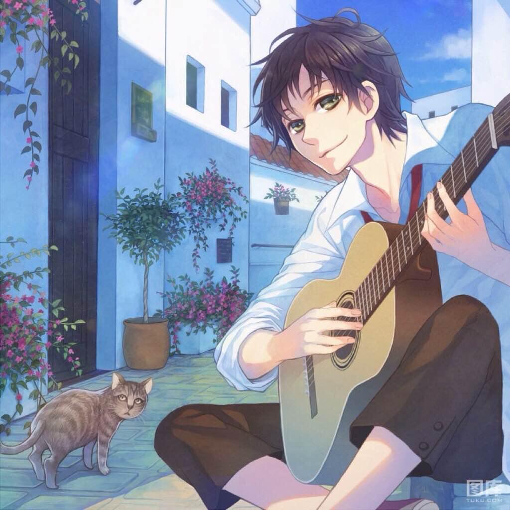 阳光男孩吉他头像